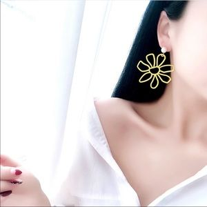 Metal Daisy Earrings Pearl Post Accent 2 for $25